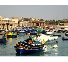 Maltese Fishing Harbour Photographic Print