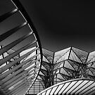 Intersecting Shapes and Lines at the Train Station by Robert Kelch, M.D.