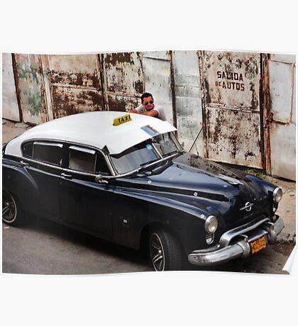 Old Cars and Handsome Cubans  Poster