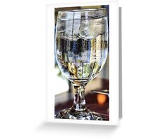Ice Water Greeting Card