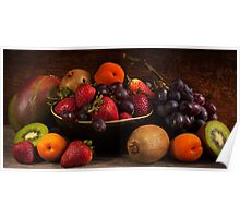 Panorama Fruit Still Life Poster