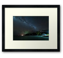 Paint Your Palette Blue & Grey Framed Print