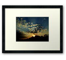 Amazing Rays Sunset Framed Print