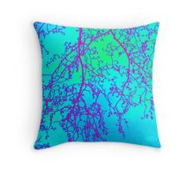 branches- colourful image taken in London Throw Pillow