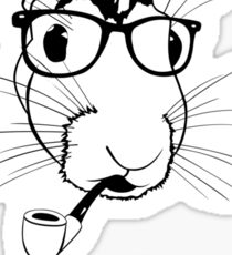 Hipster Hare Sticker