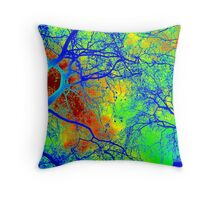 Tree- London in Winter Throw Pillow