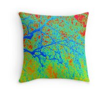 Tree- Winter in London Throw Pillow