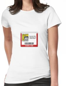 Comic-Fan Badge Womens Fitted T-Shirt