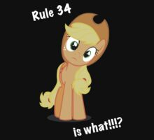 Applejack and Rule 34 by Warhead955