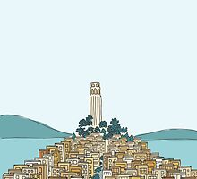 Coit Tower by AwayLaughing