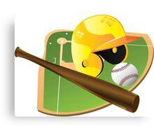 Yellow Baseball Canvas Print
