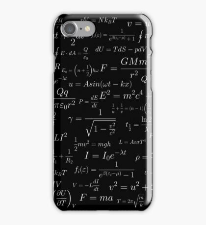Physics - white on black iPhone Case/Skin