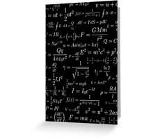 Physics - white on black Greeting Card