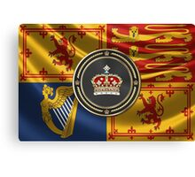Crown of Scotland over Royal Standard  Canvas Print