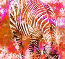 Crazy Zebra Sticker