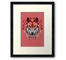 wolf red Framed Print