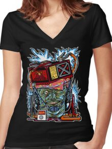 Electric Women's Fitted V-Neck T-Shirt