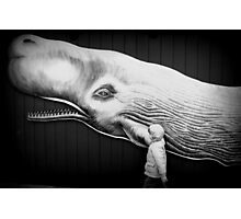 black and white with whale Photographic Print