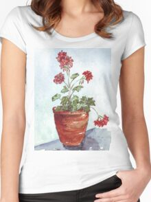 Geranium in summer Women's Fitted Scoop T-Shirt
