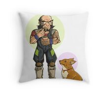 Jet and Ein Throw Pillow