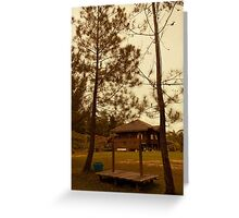House of Bengkirai Forests Borneo Greeting Card