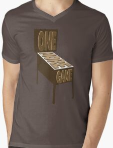 One More Game - Sepia Mens V-Neck T-Shirt