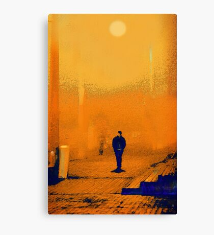 yellow morn. train station Canvas Print