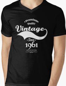 Premium Quality Vintage Since 1961 Limited Edition Mens V-Neck T-Shirt