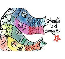 Koinobori: Strength and Courage Photographic Print