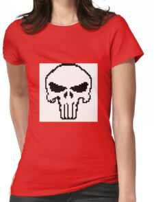 Pixel Skull Womens Fitted T-Shirt