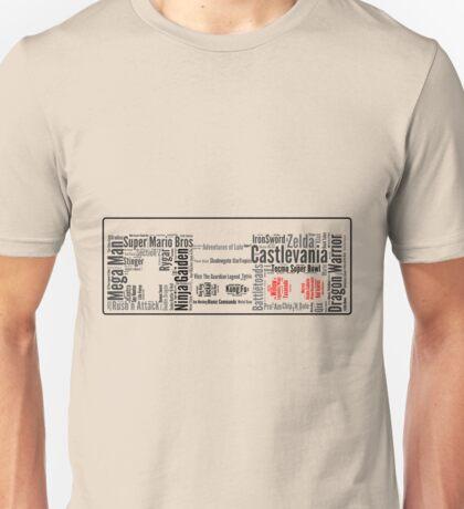 NES controller word cloud Unisex T-Shirt