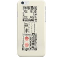 NES controller word cloud iPhone Case/Skin