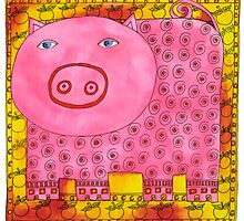 Patterned Pig by Julie Nicholls