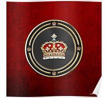 Crown of Scotland over Red Velvet Poster