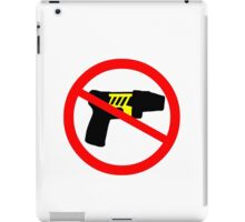 Ban tazer guns iPad Case/Skin
