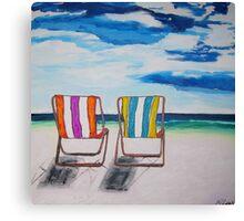 Beach Chair Delight Canvas Print