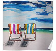 Beach Chair Delight Poster