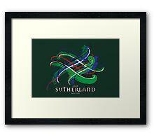 Sutherland Tartan Twist Framed Print