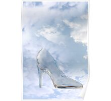 glass high heel slipper with clipping path Poster