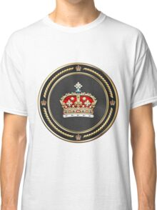 Crown of Scotland over White Leather  Classic T-Shirt