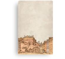 Tea in Edinburgh Canvas Print