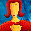 Mother and Small Child by Julie Nicholls