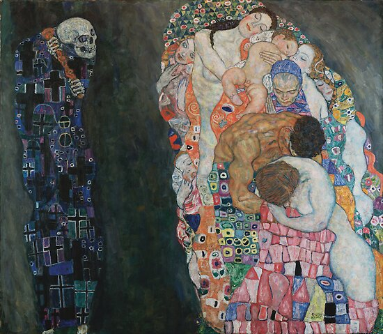 Gustav Klimt - Death and Life by TilenHrovatic