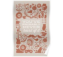 The Study of Hipsters Poster