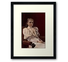 Gustav Klimt - Seated Young Girl Framed Print