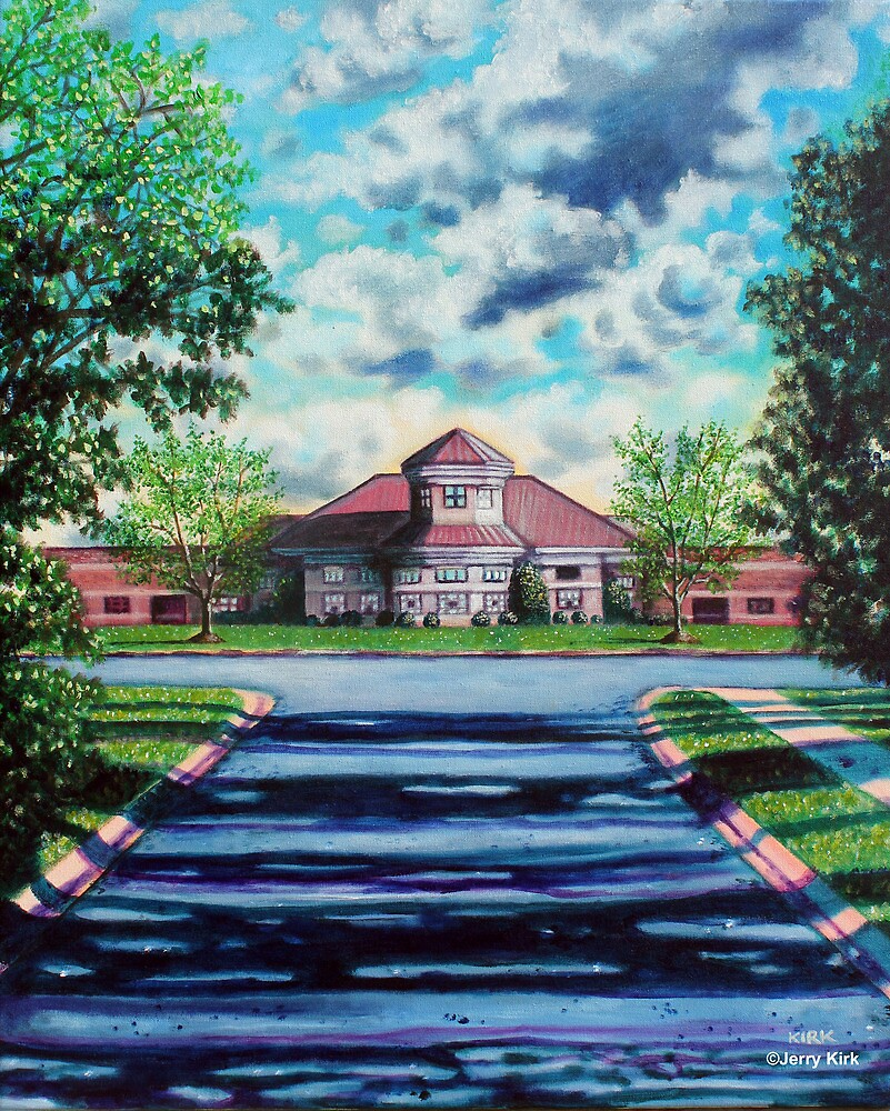 'THE WALK TO SCHOOL' (OLDE PROVIDENCE ELEMENTARY)  by Jerry Kirk