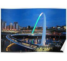 Millenium Bridge Newcastle Poster