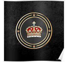 Crown of Scotland over Black Velvet Poster