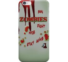 Zombies ... run! iPhone Case/Skin