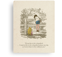 Winnie the Pooh & Friends Canvas Print